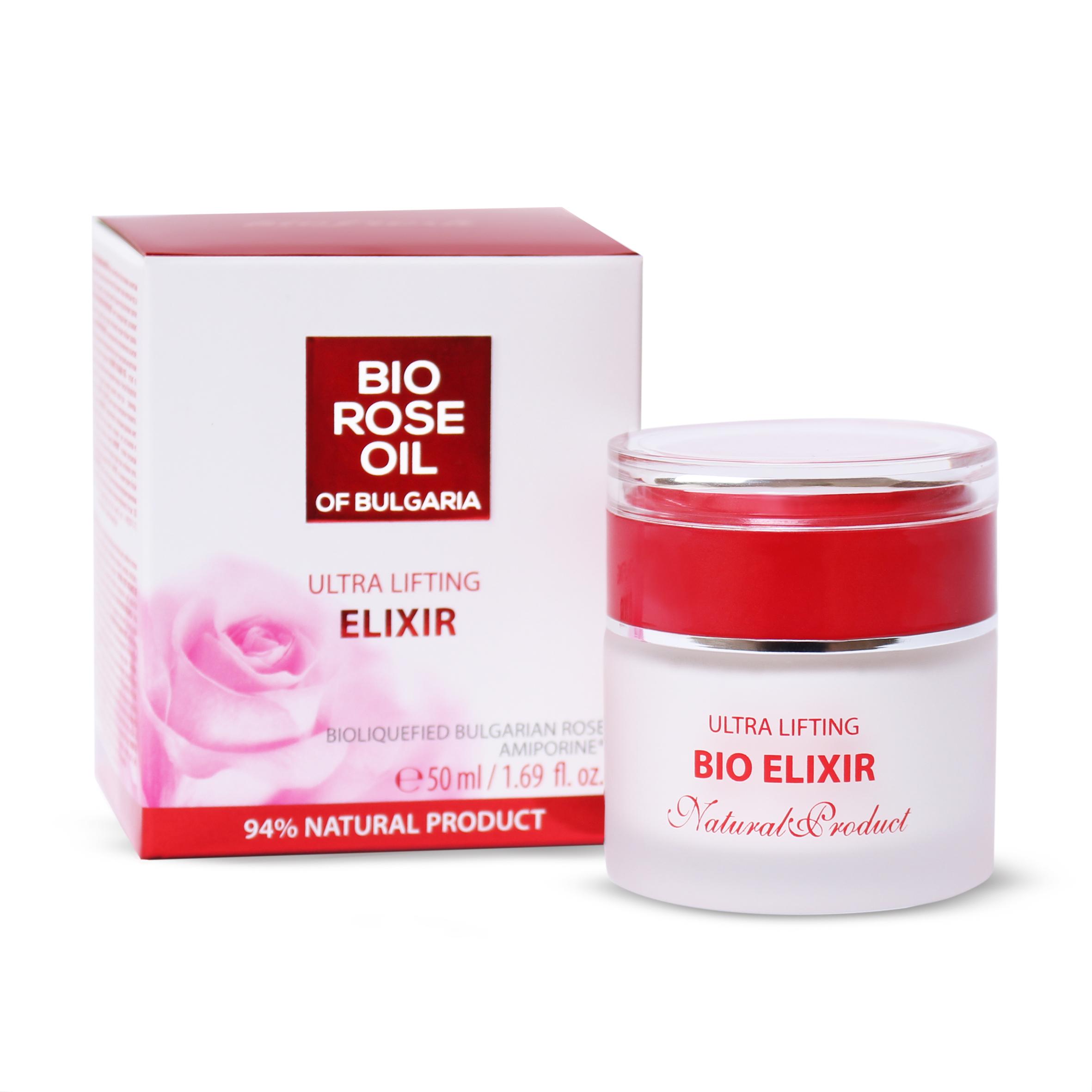 BioFresh Rose Oil Bio elixír proti stárnutí pleti s růžovým olejem 50 ml (Nejúčinnejší zbraň v boji proti stárnutí pleti. Obsahuje silnou kombinaci účinných složek: Amiporine, jojobový olej, bambucké máslo, shoreu, růžový olej, růžovou vodu a silici z pel