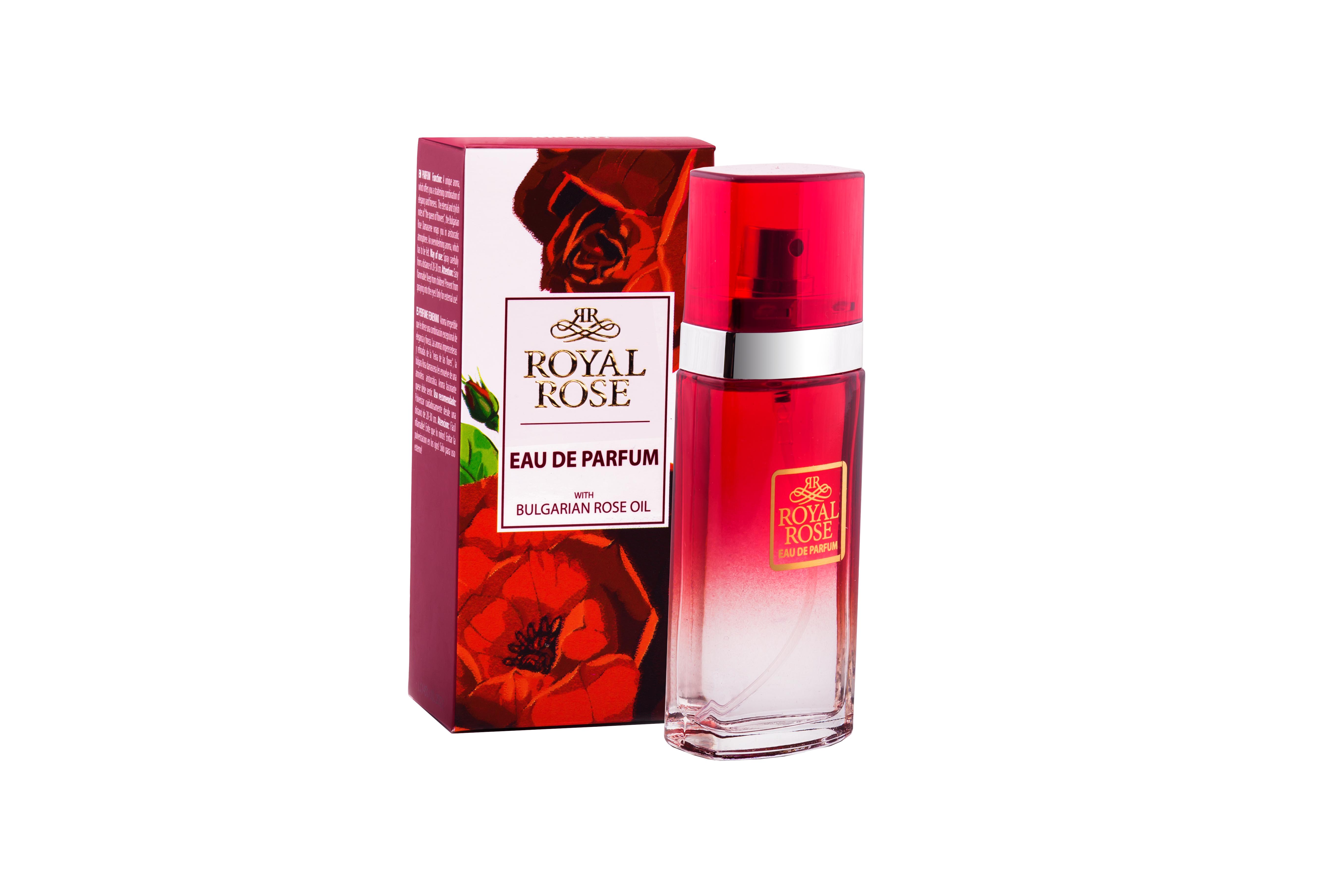 Royal Rose parfém s růžovým olejem 50 ml (Půvabná vůně růží podtrhuje křehkost a zároveň smyslnost ženy. Jen pak pozor na zástupy ctitelů!)