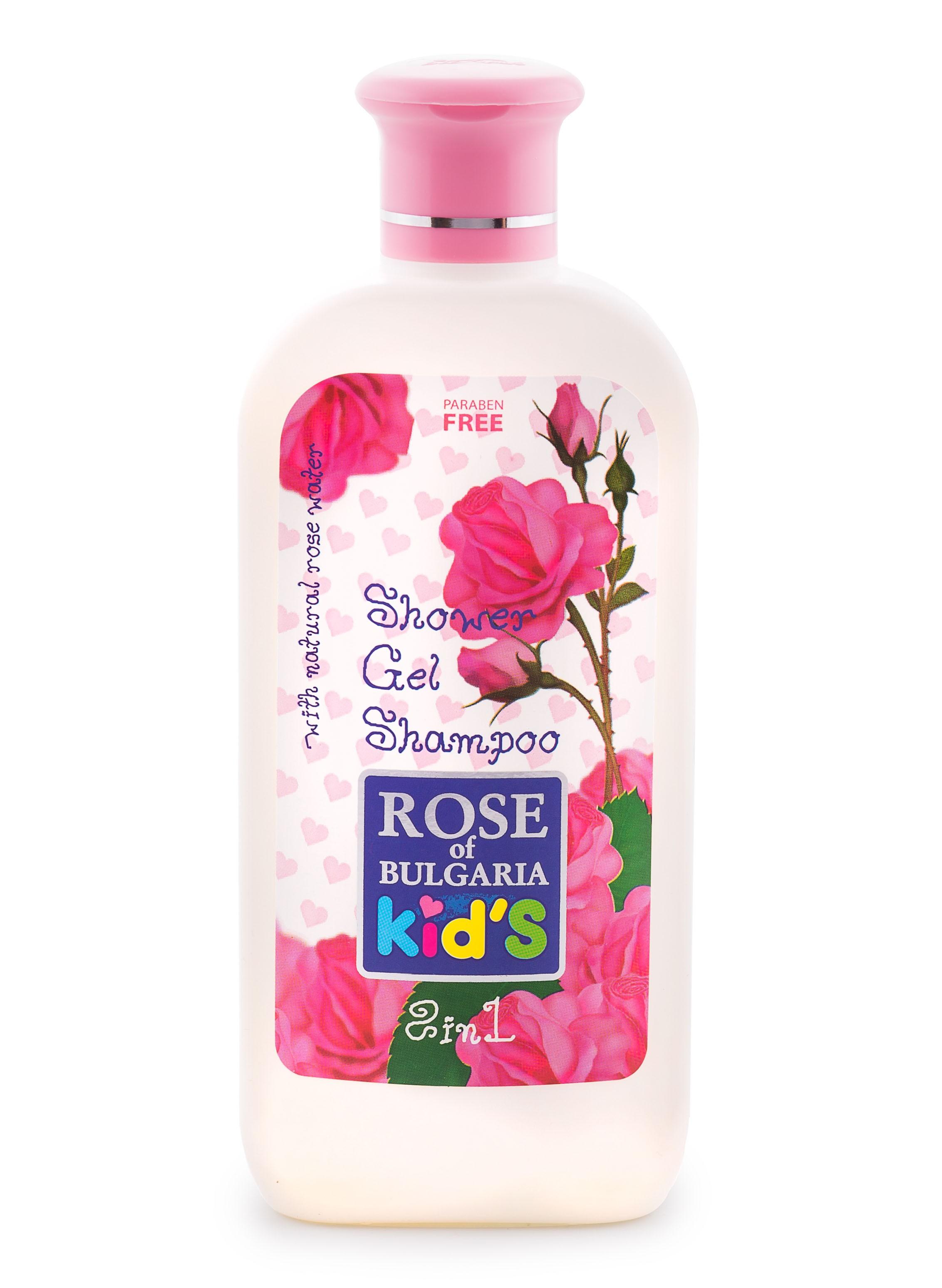 BioFresh dětský sprchový gel a šampon 2v1 s růžovou vodou 200 ml (Sprchový gel a šampon v jednom speciálně navrhnut pro jemnou dětskou pokožku.)