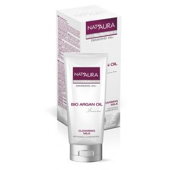 NAT'AURA přírodní čistící mléko s arganovým a růžovým olejem 100ml (Zcela odstraní make-up a nečistoty při zachování přirozené vlhkosti pokožky.)