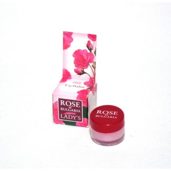 BioFresh balzám na rty s růžovou vodou a UV filtrem 5ml (Obsahuje UV filtr, růžovou vodu, vitamin E, včelí vosk a bambucké máslo)