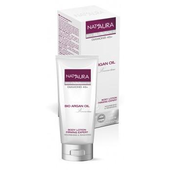NAT'AURA přírodní zpevňující tělové mléko s arganovým a růžovým olejem 150ml (Jemné a velkoryse vyživující tělové mléko určeno pro efektivní péči o pleť!)